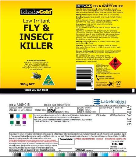 FLAY AND INSECT SPRAY LOW IRRITANT 300GM